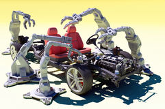Robots group Stock Photos