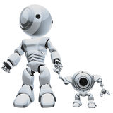 Robots hand in hand Stock Photos