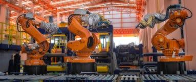 Robots het lassen Royalty-vrije Stock Fotografie