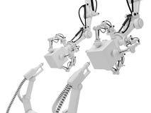 Robots industriels Images libres de droits