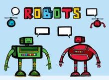 robots intéressants deux d'ajouts utiles Images libres de droits