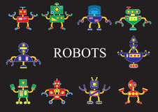 Robots, the invader or friend. Robots from outer space, the invader or friend Stock Photography