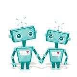 Robots in liefde Royalty-vrije Stock Afbeelding