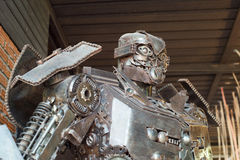 Robots made from scrap Royalty Free Stock Images