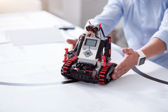 Robots are made to help people stock images