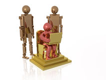 Robots and man Stock Photography