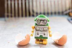 Robots minúsculos que originaron en huevos Foto de archivo