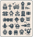 Robots, monsters, aliens collection #2. Robots collection. Vector illustration Stock Photo