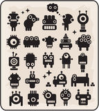 Robots, monsters, aliens collection #3. Robots collection. Vector illustration Royalty Free Stock Photo
