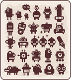 Robots, monsters, aliens collection #4. Robots collection. Vector illustration Stock Photos