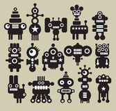 Robots, monsters, aliens collection #6. Robots and aliens collection. Vector illustration Royalty Free Stock Image
