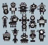 Robots, monsters, aliens collection #7. Robots collection. Vector illustration Royalty Free Stock Photos