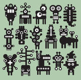 Robots, monsters, aliens collection #8. Robots and monsters collection. Vector illustration Stock Image