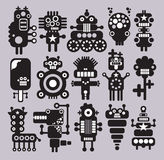 Robots, monsters, aliens collection #10. Robots collection. Vector illustration Stock Photography
