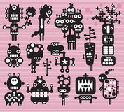 Robots and monsters collection #14. Robots and monsters collection. Vector illustration Stock Image