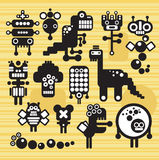 Robots and monsters collection #15. Robots and monsters collection. Vector illustration Royalty Free Stock Images