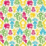 Robots naadloze achtergrond. Royalty-vrije Stock Foto's