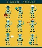 Robots ockupationer Sömlös blom- bakgrund Royaltyfri Bild