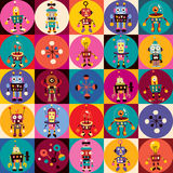 Robots pattern Royalty Free Stock Images