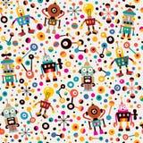 Robots pattern Stock Image