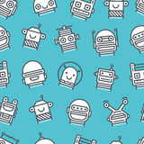 Robots Pattern Stock Photography