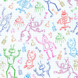 Robots pattern Royalty Free Stock Photography