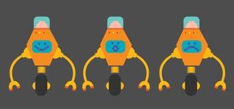 Robots planos del diseño Foto de archivo