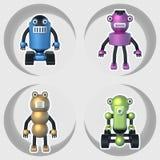 Robots réglés des illustrations 3D Photographie stock libre de droits