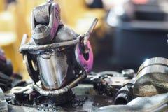 Robots reciclados del acero del metal Imagen de archivo