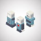 Robots. Robot isometric set. Vector Illustration Royalty Free Stock Photos
