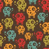 Robots seamless background in retro style. Stock Images