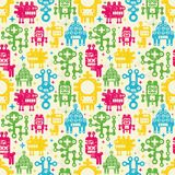 Robots seamless background. Royalty Free Stock Photos