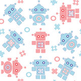 Robots seamless pattern Royalty Free Stock Photos