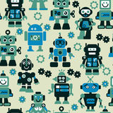 Robots seamless pattern. Robots color vector seamless pattern Royalty Free Stock Photography
