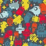 Robots seamless pattern. Royalty Free Stock Photo