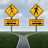 Robots And Society Concept Stock Photo