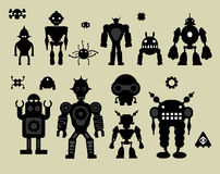 Robots Stickers Royalty Free Stock Photography