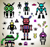 Robots Stickers Royalty Free Stock Image