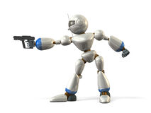 Robots take aim Stock Photography