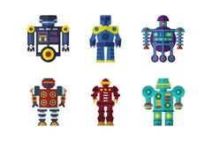 Robots vectorreeks Stock Afbeelding