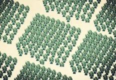 Robots verts Images libres de droits
