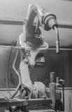 Robots welding automotive parts Royalty Free Stock Image