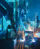 Robots welding Stock Photography
