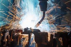 Robots welding Stock Photo
