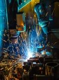 Robots Welding Stock Photography