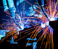 Robots Welding Stock Photo