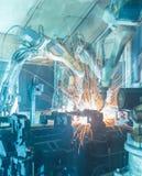 Robots welding Stock Image