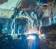 Robots welding Stock Photos