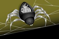 Robotspindel royaltyfri illustrationer