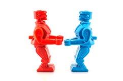 Robotstuk speelgoed klaar te vechten Royalty-vrije Stock Foto's